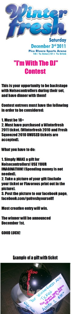 Winterfresh Ticket Contest